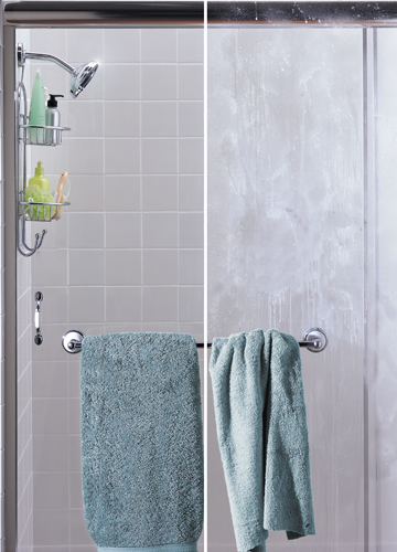 how to clean soap scum from shower glass door